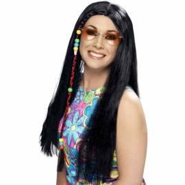 Black Hippy Party Beaded Wig