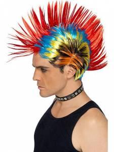 80's Mohawk Multi coloured Wig