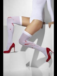 Blood Stained Thigh High Tights