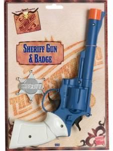 Sheriff gun and badge