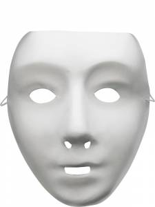 White Robot Mask