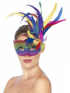 Carnival Eyemask with Feathers