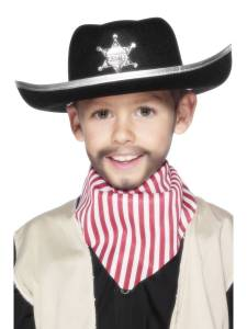Kids Sheriff Hat Badge
