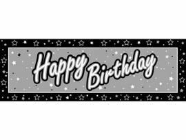 Happy birthday black&silver
