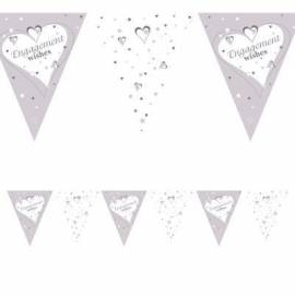 Engagement Wishes flag banner