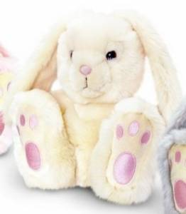 White Patchfoot Rabbit Teddy