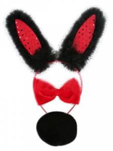 Black & Red Bunny Set