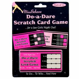 Do-a Dare Scratch Card Game