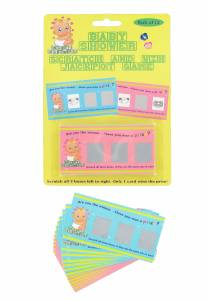 Baby Shower Scratch Cards