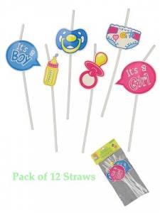 Baby Shower Straws