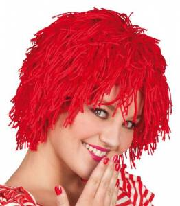 Red Woolly Clowns Wig