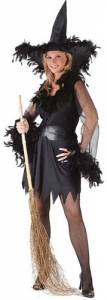 Sexy feather Witch Costume