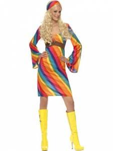70's Rainbow Hippie Costume