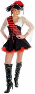 Red Flirty Pirate Costume