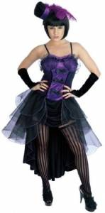 Purple Burlesque Dancer Costume