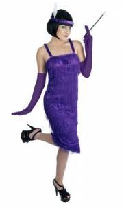 Purple Roaring 20's Girl Costume