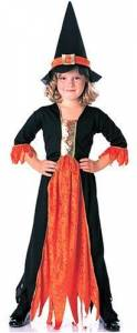 Kids Gothic Witch Costume