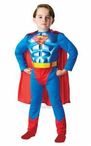 Kids Metallic Superman Costume