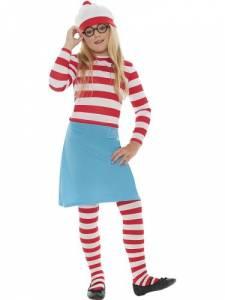 Kids Wheres Wally Wenda Costume