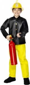 Kids PVC Fireman Costume