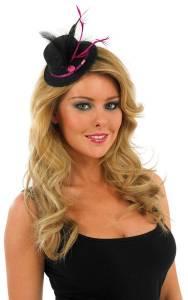 Mini Top Hat Black/Pink