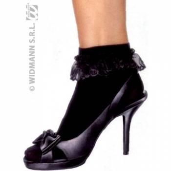 Black Ruffle Socks