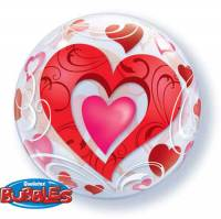 Red Hearts Bubble Balloon